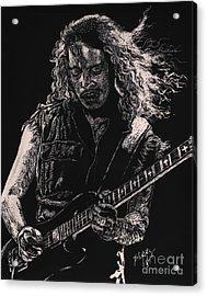 Kirk Hammett Acrylic Print by Kathleen Kelly Thompson