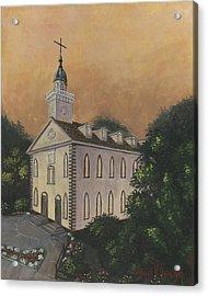Kirtland Temple Acrylic Print by Jeff Brimley