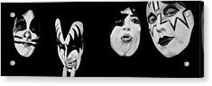 Kiss 78 Acrylic Print by Brian Broadway