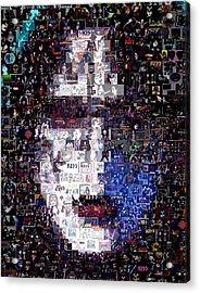 Kiss Ace Frehley Mosaic Acrylic Print by Paul Van Scott