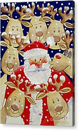 Kiss For Santa Acrylic Print by Tony Todd