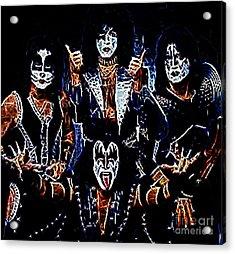 Kiss Acrylic Print by Paul Ward