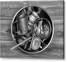 Kitchen Utensils Still Life I Acrylic Print by Tom Mc Nemar