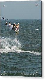 Kite Surfing 8 Acrylic Print by Joyce StJames