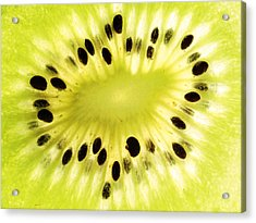 Kiwi Fruit Acrylic Print by Paul Ge