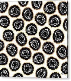 Kiwi Pattern Acrylic Print by Elisabeth Fredriksson