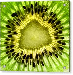 Kiwi Up Close Acrylic Print by June Marie Sobrito