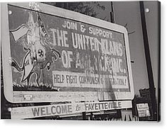 Kkk- 1975 Acrylic Print by Signs Of The Times Collection
