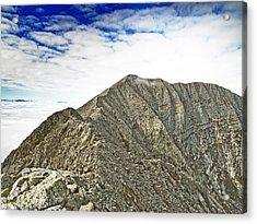 Knife Edge On Mount Katahdin Baxter State Park Maine Acrylic Print by Brendan Reals