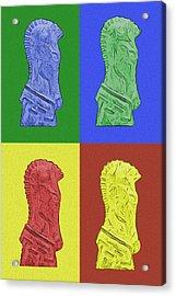 Knight Acrylic Print by Tom Mc Nemar