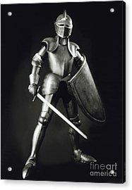Knight Acrylic Print by Tony Cordoza