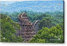 Knobels Wooden Roller Coaster  Acrylic Print by Paul Ward