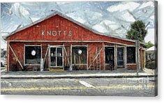 Knott's Hardware Acrylic Print by Murphy Elliott