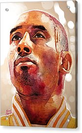 Kobe Bryant Lakers Final Game Gold Edition Acrylic Print by Michael Pattison