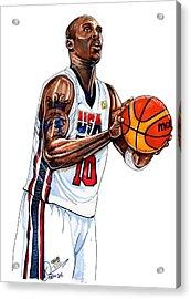 Kobe Bryant Men's Usa Basketball Acrylic Print by Dave Olsen