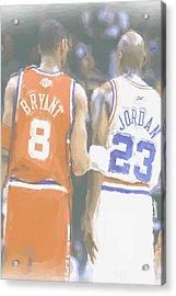 Kobe Bryant Michael Jordan 2 Acrylic Print by Joe Hamilton
