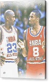 Kobe Bryant Michael Jordan Acrylic Print by Joe Hamilton