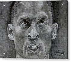 Kobe Bryant Acrylic Print by Stephen Sookoo