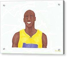 Kobe Bryant Acrylic Print by Toni Jaso