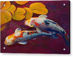Koi Pond II Acrylic Print by Marion Rose