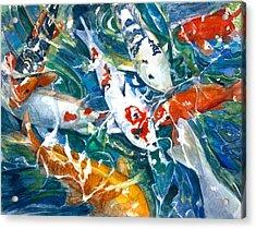 Koi Sparkle Acrylic Print by Patricia Allingham Carlson