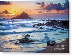 Koki Beach Harmony Acrylic Print by Inge Johnsson