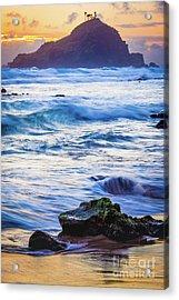 Koki Beach Sunrise #4 Acrylic Print by Inge Johnsson