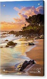 Koki Beach Sunrise Acrylic Print by Inge Johnsson