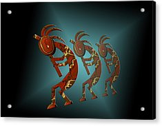 Kokopelli Acrylic Print by Carol and Mike Werner