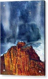Kolob Thunderstorm Acrylic Print by Russell Cornelius