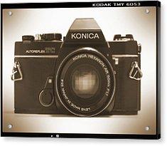 Konica Tc 35mm Camera Acrylic Print by Mike McGlothlen