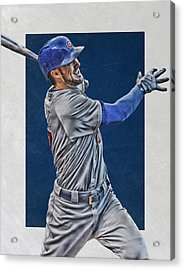 Kris Bryant Chicago Cubs Art 3 Acrylic Print by Joe Hamilton