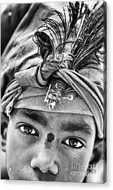 Krishna Boy Acrylic Print by Tim Gainey