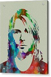 Kurt Cobain Nirvana Acrylic Print by Naxart Studio