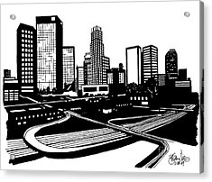 L. A. Acrylic Print by Andrew Cravello