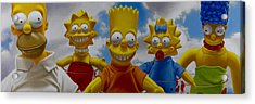 La Famiglia Simpson Acrylic Print by Tony Chimento