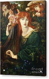 La Ghirlandata Acrylic Print by Dante Charles Gabriel Rossetti