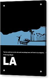 La Night Poster Acrylic Print by Naxart Studio