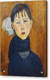 La Petite Marie Acrylic Print by Amedeo Modigliani