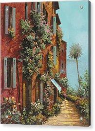 La Strada Verso Il Lago Acrylic Print by Guido Borelli