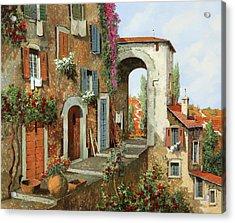 La Stradina Tra I Campi Rossi Acrylic Print by Guido Borelli