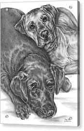 Labrador Dogs Nap Time Acrylic Print by Kelli Swan