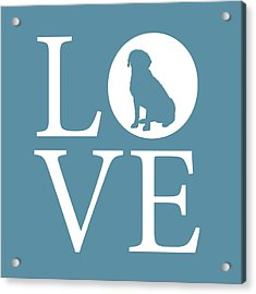 Labrador Love Acrylic Print by Nancy Ingersoll