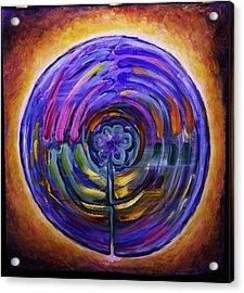 Mandala Labyrinth Acrylic Print by Sage Boyd