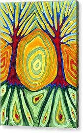 Labyrinth Acrylic Print by Wojtek Kowalski