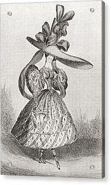 Ladies Fashion In 1828, Wasp Waist Acrylic Print by Vintage Design Pics