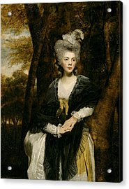 Lady Frances Finch Acrylic Print by Joshua Reynolds