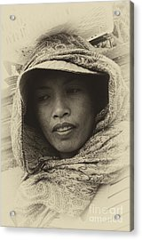 Lady From Bali Acrylic Print by Bob Christopher