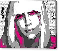 Lady Gaga Acrylic Print by Brad Scott
