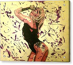 Lady Gaga Acrylic Print by Nikki Portanova
